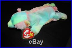 TY Beanie Baby 1998 Sammy the Bear. With rare collectible tag errors