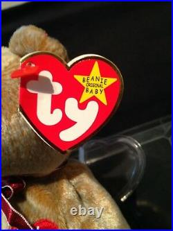 TY Beanie Baby 1999 SIGNATURE TEDDY Bear WITH ERRORS HANG TAG-RARE-RETIRED