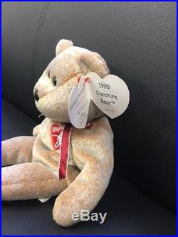 TY Beanie Baby 1999 Signature Bear RARE'Teddy' NEW WITH Tags Retired