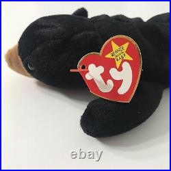 TY Beanie Baby Blackie the Bear Original 1993 TAG ERRORS EXTREMELY RARE