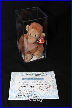 TY Beanie Baby Bongo Style 4067 AUTHENTICATED Rare Museum Quality