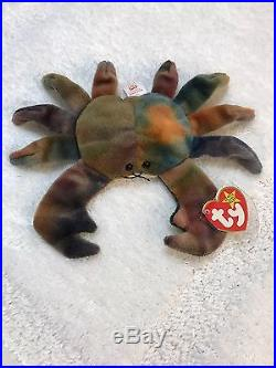 6750302a697 TY Beanie Baby CLAUDE The Crab