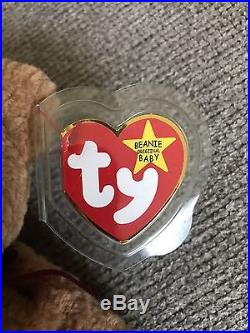 TY Beanie Baby Curly with errors RARE