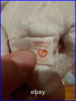 TY Beanie Baby Halo The Angel Bear 1998Brown NoseRetired Rare Vintage