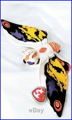 TY Beanie Baby Japan Mothra From Godzilla MWMTS 2001 RARE -Smoke & Pet FREE