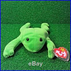 e4dd79282e3 TY Beanie Baby Legs The Frog RARE 1993 No Star Tush Tag RETIRED Original 9  MWMT