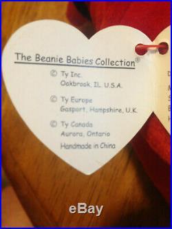 TY Beanie Baby Mac The Cardinal Rare with 4 Errors