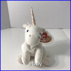 Collectoble Beanie Retired TY TY Unicorn Plush Toy White Unicorn Mystic The Unicorn TY Horse Vintage Unicorn Florescent Horn