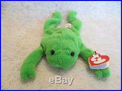 TY Beanie Baby Original LEGS the Frog 1993 PVC RARE  f940fc8f45cc