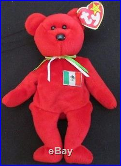 3a6b10a645d TY Beanie Baby Osito Bear Mexico ORIGINAL Rare Hand Made No Stamp Retired  MWMT