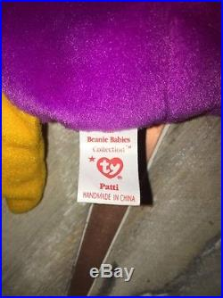 TY Beanie Baby Patti The Platypus RARE with Errors PVC pellets