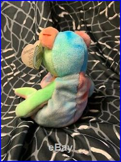 TY Beanie Baby Peace Bear Retired with Rare ERRORS- Very RARE