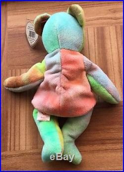 4638e8bd580 TY Beanie Baby Peace Bear With Tag Errors Rare 1996
