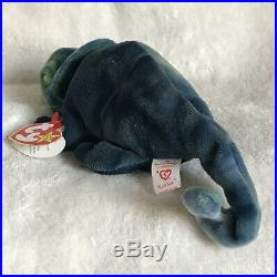TY Beanie Baby RAINBOW The Chameleon With Tag Errors RARE HARD TO FIND