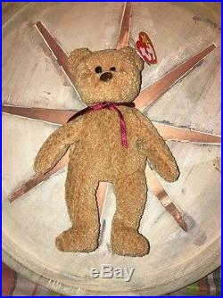 TY Beanie Baby RARE Curly the Bear with Errors PVC Pellets