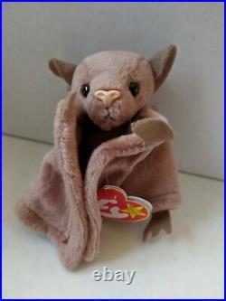 TY Beanie Baby Rare Retired Original Pristine Mint Condition 1996 Batty Bat