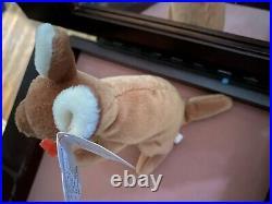 TY Beanie Baby Rare Retired Original Pristine Mint Condition 1996 Pouch Kangaroo