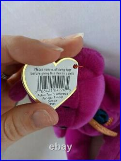 TY Beanie Baby Rare Retired Original Pristine Mint Condition 1999 Millenium Bear