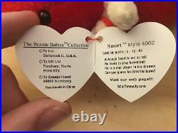 TY Beanie Baby SNORT THE BULL Rare/Retired Vintage Birthday May 15 1995 JKT8