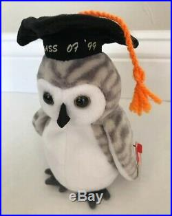 TY Beanie Baby Wiser The Owl 1999 Rare Retired Vintage & Collectable