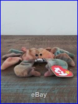 TY CLAUDE The Crab Teenie Beanie Baby circa 1993 rare find