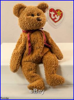 TY Curly Beanie Baby, Retired, RARE TAG Errors, PVC, Mint, New, DOB 4/12/96
