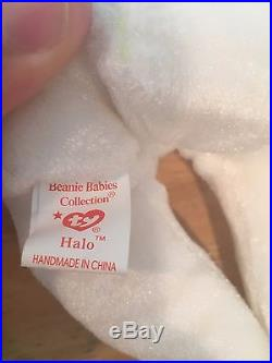 TY Halo Angel Bear Beanie Baby Rare Tush Tag Brown Nose (ERROR) Collector lte