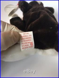 TY INC. Original Beanie Babies 1997 Bruno brown white dog + 1999 Butch Lot 39704e2953e