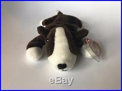4571c48c7fb TY INC. Original Beanie Babies 1997 Bruno brown white dog + 1999 Butch Lot