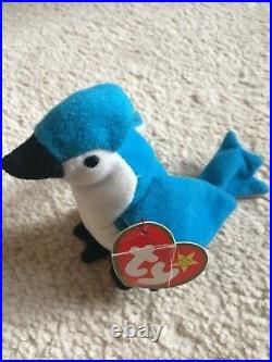 TY Original Beanie Baby ROCKET the Blue Jay RARE 1993 Limited Edition