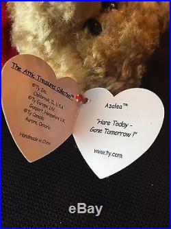 TY Piccadilly Attic Treasure- RARE! - Error- Azalea Swing Tag-Beanie Baby