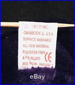 3c0759e06f6 TY Princess Diana Beanie Baby RARE 1997 1st edition made in China P. E.  Pellets