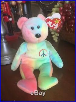 TY beanie baby Very Rare PEACE BEAR orig