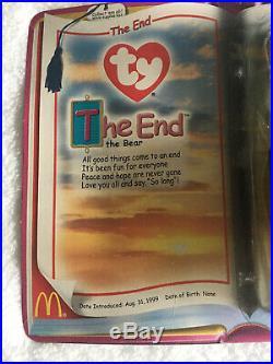 The End the Bear McDonalds TY The End Teenie Beanie Baby 1999 Rare