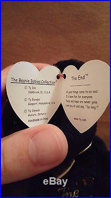 b12a2b28496 The End ty Beanie Baby 1999 with RARE Tag