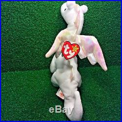 Truly RARE Ty Beanie Baby 1995 Magic Dragon MWMT Retired PVC Plush Tush ERRORS