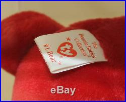 Ty Authenticated #1 Rep Bear NHT Mint Beanie Baby AP 11520 Ultra Rare