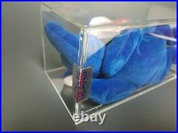 Ty Authenticated 3rd Gen Royal Blue Peanut Beanie Baby MWMTMQ 1st Gen Tush! RARE
