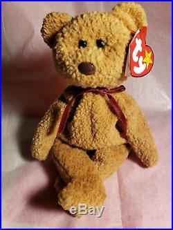 2cce7d633de Ty BEANIE BABIES Rare Retired CURLY w Tag Errors ORIGiiNAL SUFACE PVC1ST  EDITION