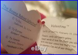 Ty BEANIE BABY Valentina RARE
