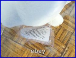 Ty Beanie Authenticated 1st Gen. Chilly the Polar Bear with Very Rare Mint Tags