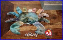 Ty Beanie Babies Claude The Crab 1996 Rare