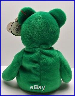 Ty Beanie Babies Erin The Green Irish Bear Rare With Errors MT-NWT VTG 1997