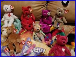 Ty Beanie Babies Lot 125+ Bears RARE 100% with TAGS non smoking no stains MINT