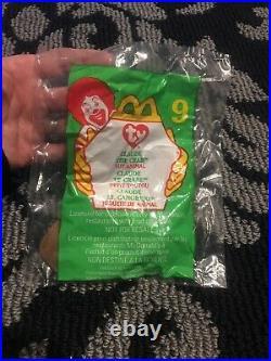 Ty Beanie Babies + McDonalds Teenie Beanie Claude Rare Retired