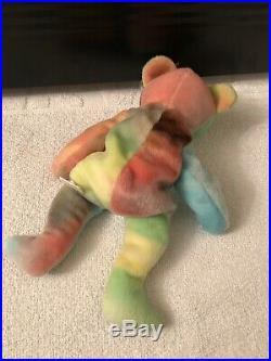 Ty Beanie Babies PEACE Bear Very Rare Retired Original February 1, 1996 Bear