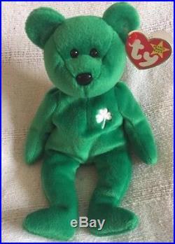 Ty Beanie Babies Rare Erin' Irish Bear (misprinted & Numbered)