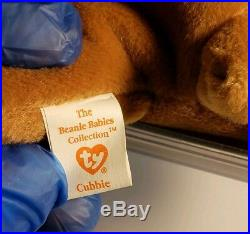 Ty Beanie Babies Rare Retired Blackie & Cubbie w Tag ERRORS! PVC HOLIDAY DEALS