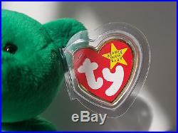 Ty Beanie Babies Retired Erin Bear Irish Green Shamrock Rare Collectible Toy