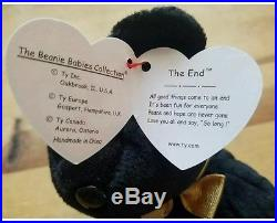 093f644c303 Ty Beanie Babies The End Bear 1999 With RARE Tag Errors Mint Condition